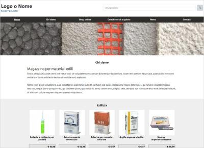 crea sito web per magazzino materiali edili, immagine di esempio