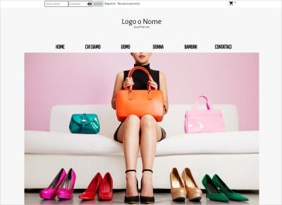 crea sito web per negozio di scarpe