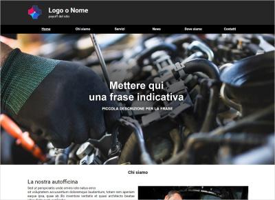 crea sito web per officina