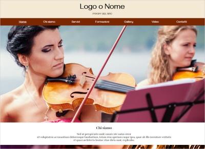 crea sito web per scuola di musica
